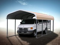 12x21 One Car Metal Carport