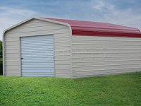 12x21 Regular Roof Single Car Garage