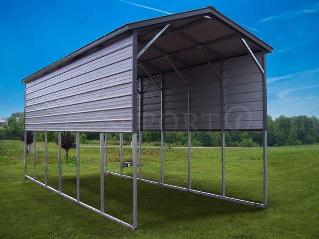 12x31 Vertical Roof RV Cover Image