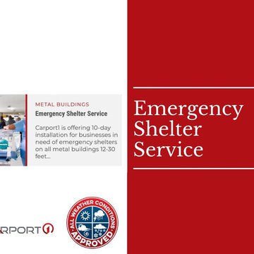 When tornadoes, hurricanes, COVID-19, or other disaster, our team is experienced and ready to provide all-weather metal emergency shelters quickly and delivered where you need them most.  #metal #emergencyshelter #emergencymanagement #hurricane #durable #