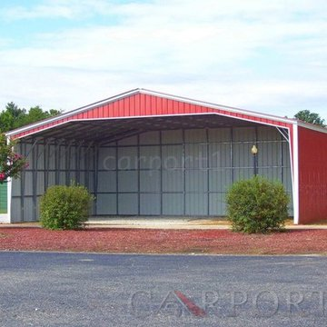 There are two parts to the misconception that people have about the economics of steel metal buildings. The first is that steel buildings are too expensive to build. That is not true at all. Our metal carports, metal garages, and other metal buildings are