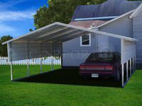 18x21 Boxed Eave Roof 2 Car Carport