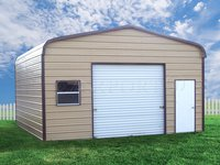 18x21 Regular Roof Single Car Garage