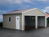 18x21 Vertical Roof Double Car Garage