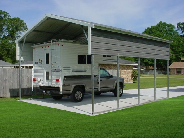18x21 Vertical Roof Double Car Carport