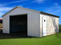 18x21 Vertical Roof Single Car Garage Image