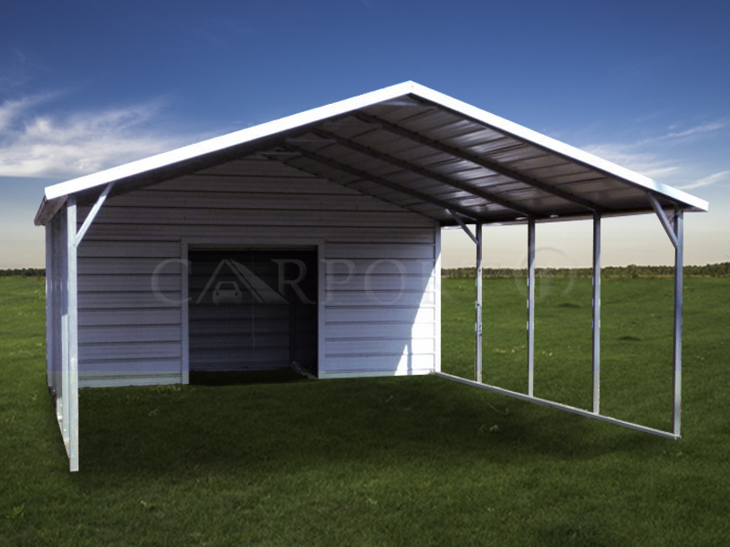 18x26 Boxed Eave Roof Double Car Carport