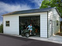 18x26 Boxed-Eave Roof Single Car Garage