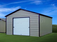 18x26 Boxed-Eave Roof One Car Garage