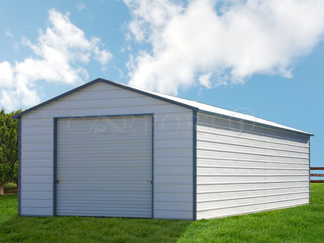 18x41 Boxed-Eaved Roof One Car Garage Image