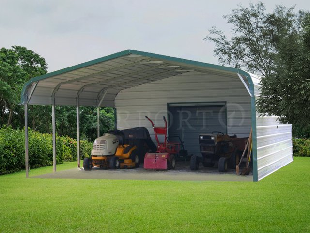18x26 Regular Roof Style Double Car Carport