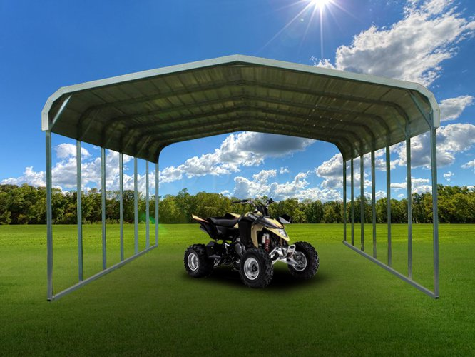 18x26 Regular Roof Double Car Carport Image