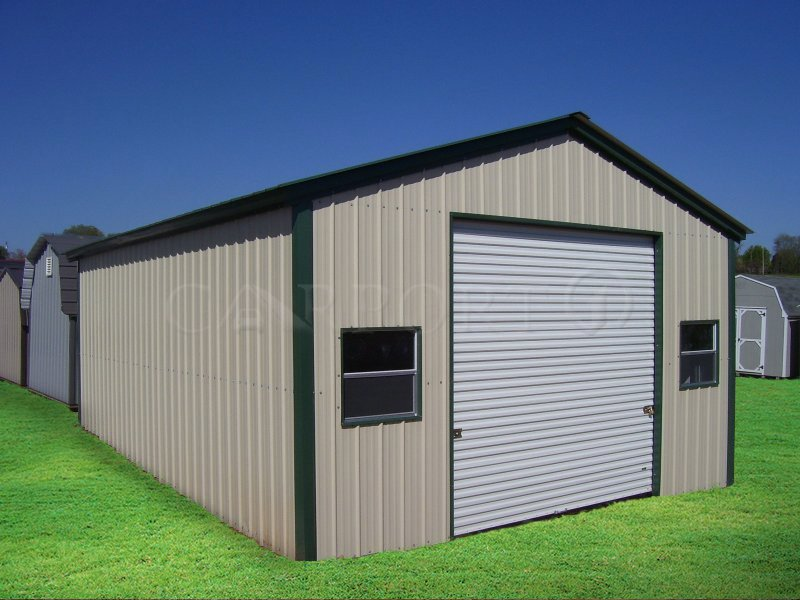 20x26 Vertical Roof Single Car Garage