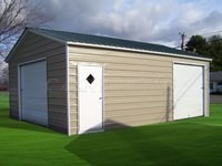 18x26 Vertical Roof Double Car Garage