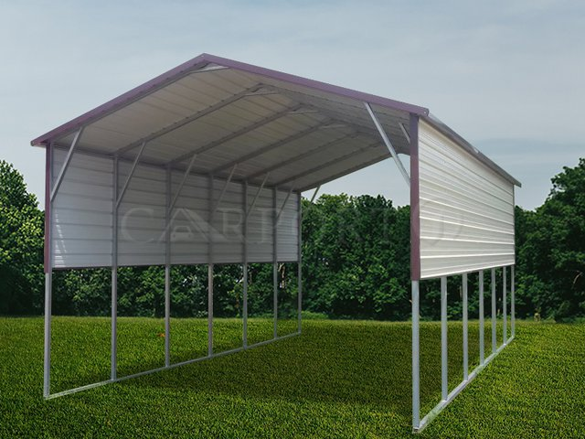 18x31 Boxed Eave RV Cover Image