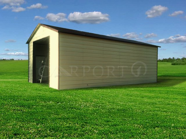 20x31 Boxed-Eave Roof Single Car Garage Image