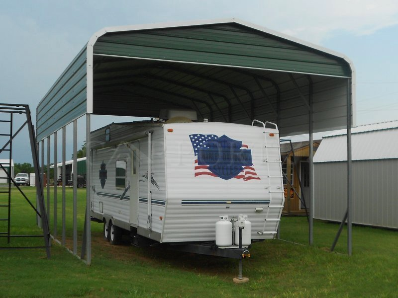 18x31 Regular Roof RV Cover Image
