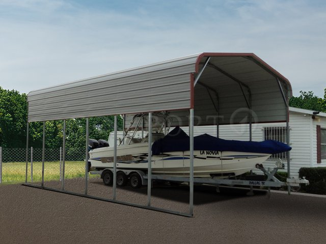 18x31 Regular Roof RV Carports Image