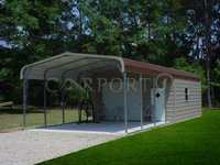 18x41 Regular Roof Double Car Carport Image