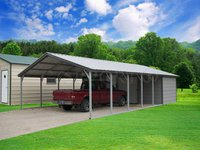 18x36 Vertical Roof Double Car Carport