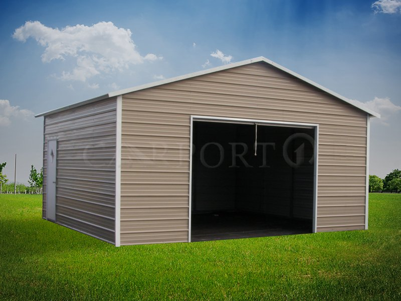 20x21 Single Car Steel Garage Structure