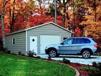 20x21 Boxed-Eave Roof Single Car Garage