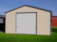 20x21 Boxed-Eave Roof One Car Garage