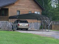 18x21 Regular Style Two Cars Carport