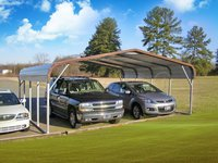 22x21 Regular Roof Two Car Carports