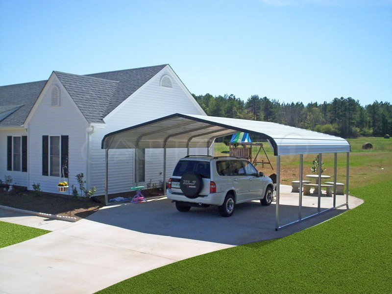 20x21 Regular Roof Style Double Car Carport Image