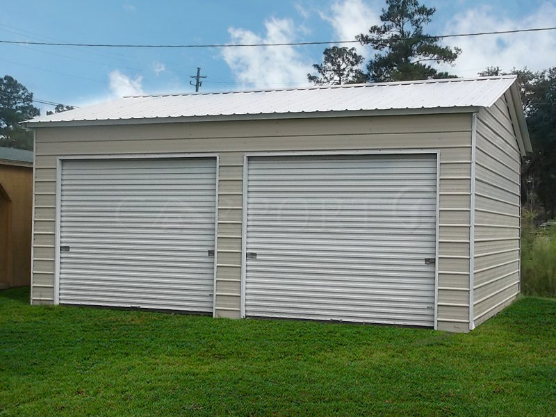 20x26 Vertical Roof Double Car Garage