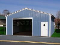 22x26 Vertical Roof Single Car Garage
