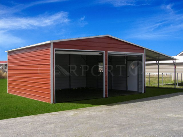 20×20 Boxed Eave Roof Two Car Garage