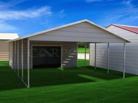 20x26 Boxed Eave Roof Double Car Carport