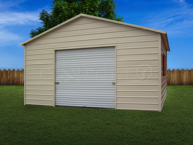 20x26 Boxed-Eave Roof Single Car Utility Image