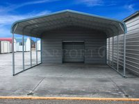 18x26 Regular Roof Style 2 Car Carport