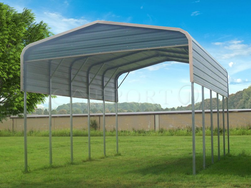20x26 Regular Roof Two Car Carport