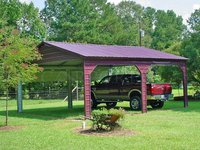 20x26 Vertical Roof Double Car Carport Image