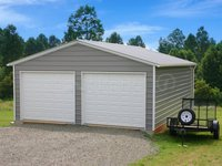 22x26 Vertical Roof Double Car Garage