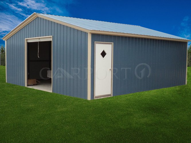 24x26 Vertical Roof Single Car Garage