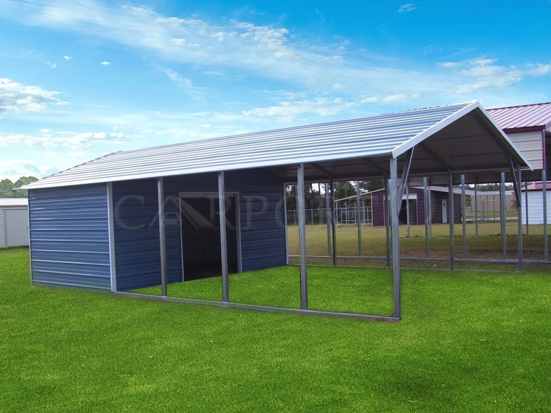 20x31 Boxed Eave Roof Double Car Carport