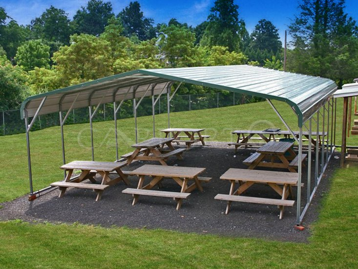 24x31 Two Cars Metal Carport Building