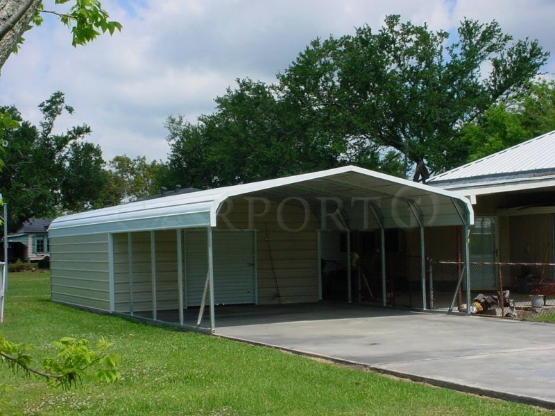 20x36 Boxed Eave Roof Double Car Carport