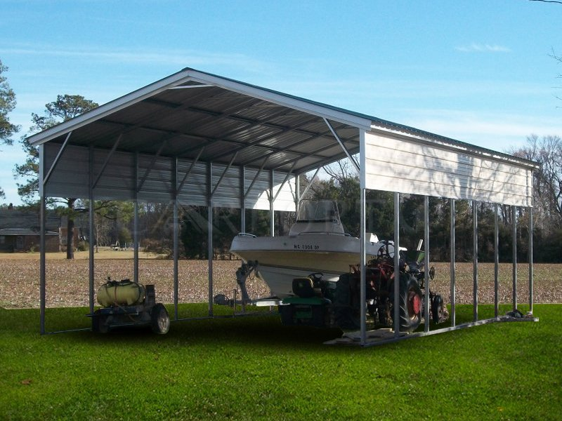 20x36 Vertical Roof RV Cover