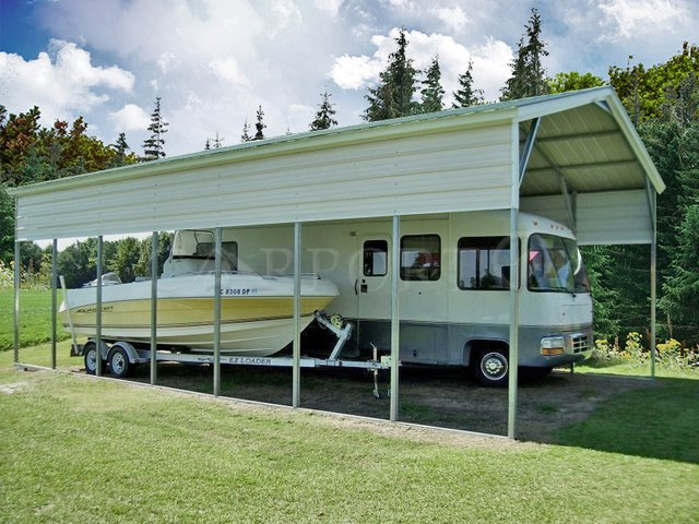 20x36 Vertical Roof RV Cover Image