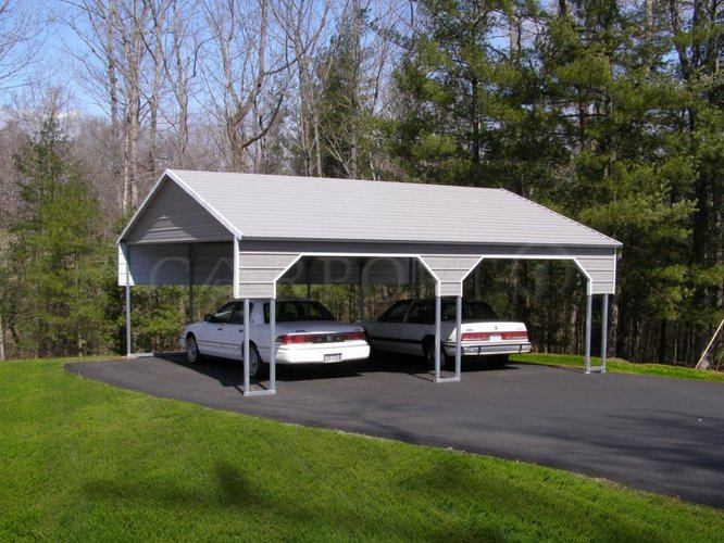 22x26 A-Frame Two Car Carport
