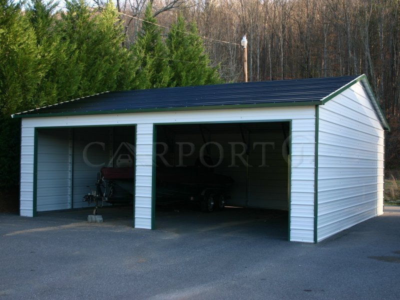 20x26 Boxed-Eave Roof Double Car Garage Image