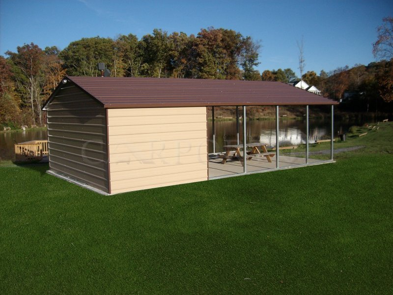 18x31 Regular Roof Double Car Carport