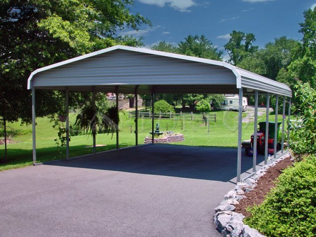 22x26 Regular Double Car Carport Image