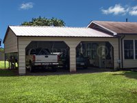 22x26 Vertical Roof Double Car Carport